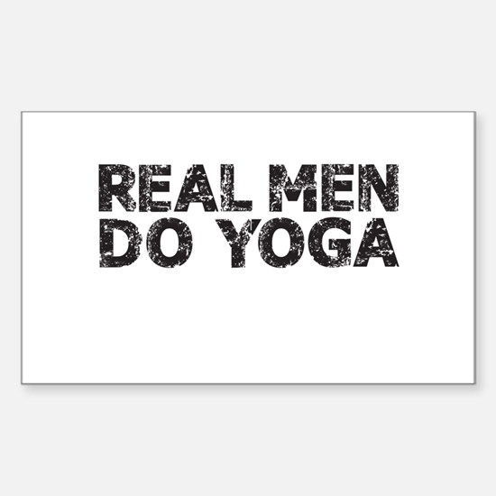 REAL MEN DO YOGA Decal