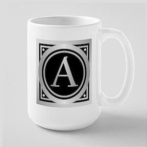 Deco Monogram A Mugs