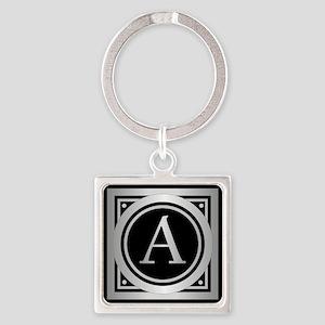 Deco Monogram A Keychains