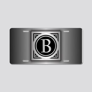 Deco Monogram B Aluminum License Plate