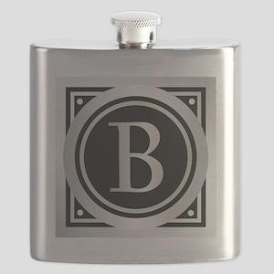Deco Monogram B Flask