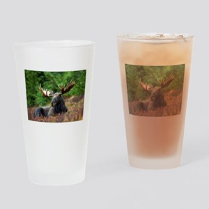 Majestic Moose Drinking Glass