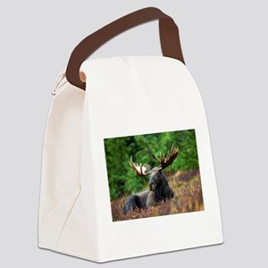 Majestic Moose Canvas Lunch Bag