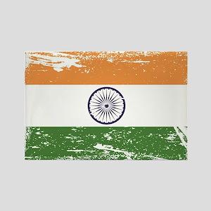 Grunge India Flag Rectangle Magnet