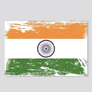 Grunge India Flag Postcards (Package of 8)
