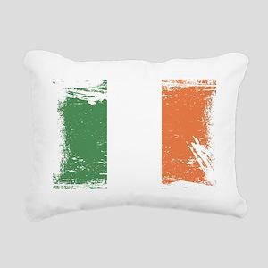 Grunge Ireland Flag Rectangular Canvas Pillow