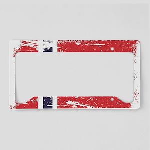 Grunge Norway Flag License Plate Holder