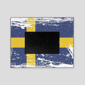 Grunge Sweden Flag Picture Frame