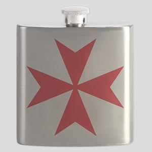 Red Maltese Cross Flask