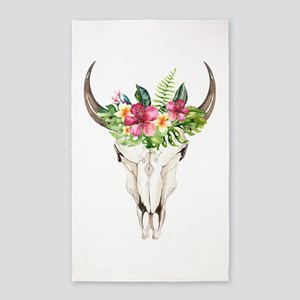 Spirit Cow Skull Area Rug