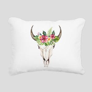 Spirit Cow Skull Rectangular Canvas Pillow