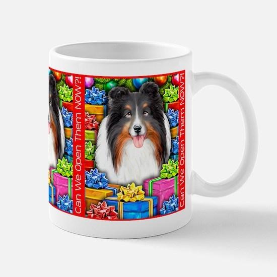Sheltie Christmas Tri Mug