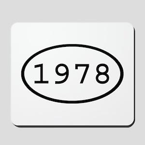 1978 Oval Mousepad