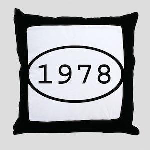 1978 Oval Throw Pillow
