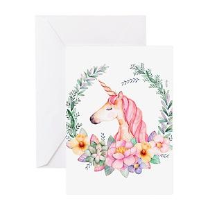 Unicorn greeting cards cafepress m4hsunfo