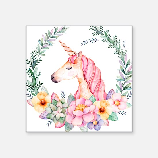 Pink Unicorn Sticker