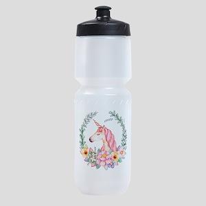 Pink Unicorn Sports Bottle