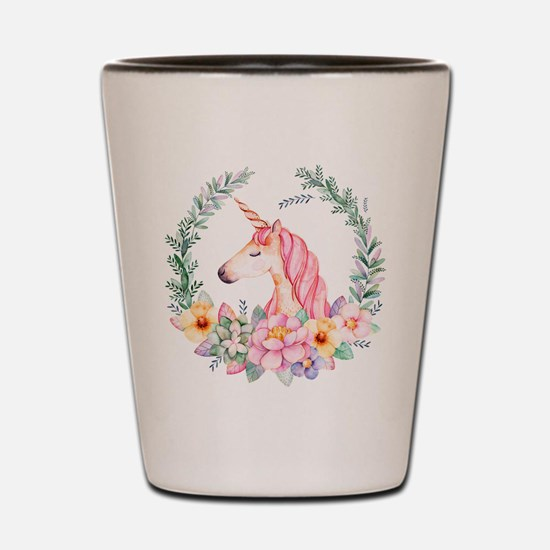 Pink Unicorn Shot Glass