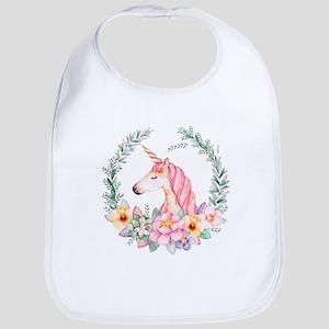Pink Unicorn Baby Bib