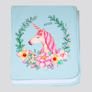 Pink Unicorn baby blanket