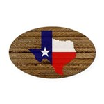 Great Texas v1 Oval Car Magnet
