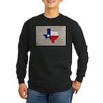 Great Texas Flag v2 Long Sleeve Dark T-Shirt