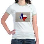 Great Texas Flag v2 Jr. Ringer T-Shirt