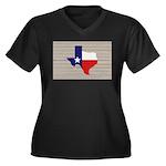 Great Texas Women's Plus Size V-Neck Dark T-Shirt