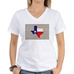 Great Texas Flag v2 Women's V-Neck T-Shirt