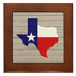 Great Texas Flag v2 Framed Tile