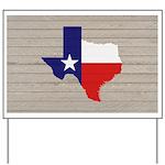 Great Texas Flag v2 Yard Sign