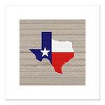 Great Texas Flag v2 Square Car Magnet 3