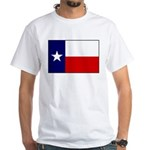 Texas Flag v3 White T-Shirt