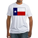 Texas Flag v3 Fitted T-Shirt