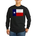 Texas Flag v3 Long Sleeve Dark T-Shirt