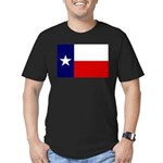 Texas Flag v3 Men's Fitted T-Shirt (dark)