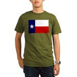 Texas Flag v3 Organic Men's T-Shirt (dark)