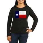 Texas Flag v3 Women's Long Sleeve Dark T-Shirt