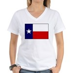 Texas Flag v3 Women's V-Neck T-Shirt