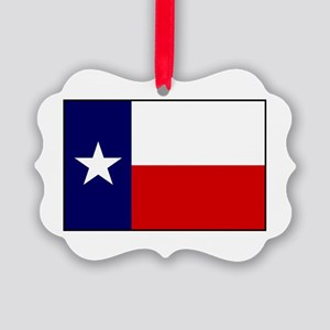 Texas Flag v3 Picture Ornament