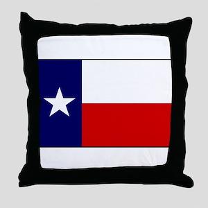 Texas Flag v3 Throw Pillow