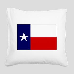 Texas Flag v3 Square Canvas Pillow