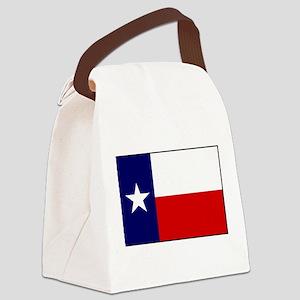 Texas Flag v3 Canvas Lunch Bag