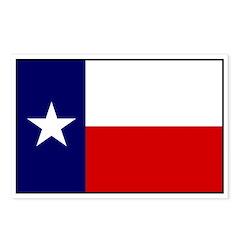 Texas Flag v3 Postcards (Package of 8)