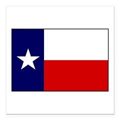 Texas Flag v3 Square Car Magnet 3