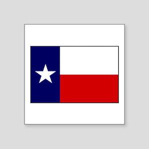 """Texas Flag v3 Square Sticker 3"""" x 3"""""""