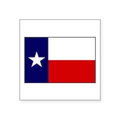 Texas Flag v3 Square Sticker 3