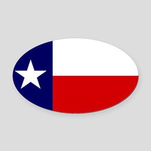 Texas Flag v3 Oval Car Magnet
