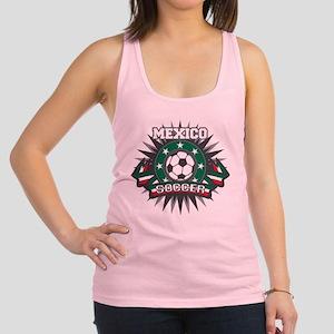 Mexico Soccer Ball Racerback Tank Top