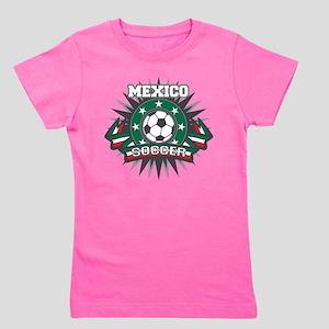 Mexico Soccer Ball Girl's Tee